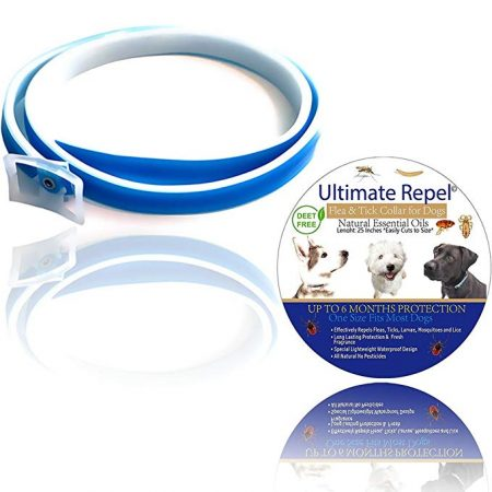 ULTIMATEREPEL Flea Tick Prevention Collar - for Dogs and Puppies: