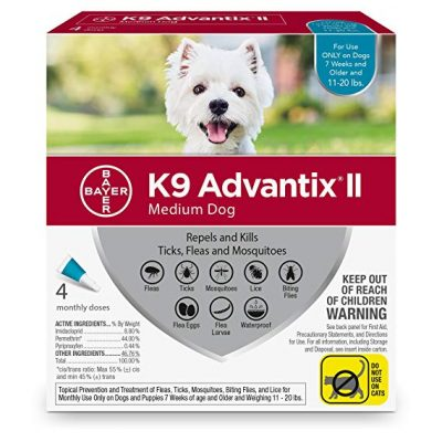 3. Bayer K9 Advantix II Flea, Tick and Mosquito Prevention by Bayer Animal Health: