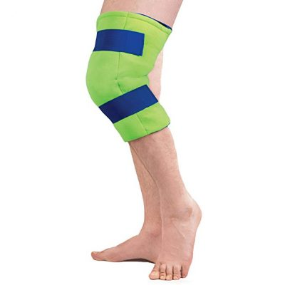 4. Polar Ice Large Knee Wrap Cold Therapy Wearable Ice Pack Adjustable Hook and Loop Closure: