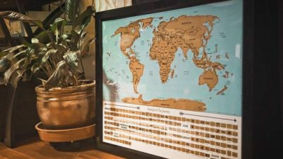 6. Scratch Off World Map by Goodies4lifes: