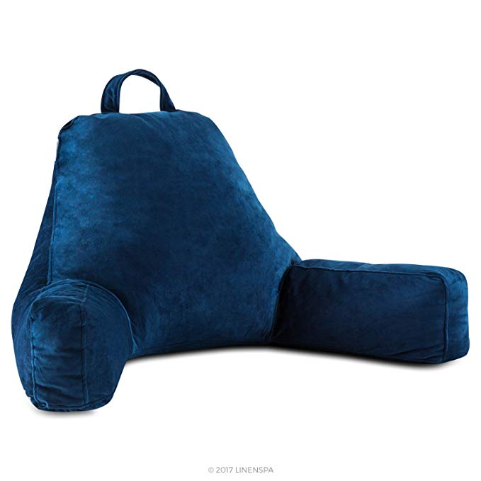 11. Linenspa Reading Pillow - Large Design for Adults: