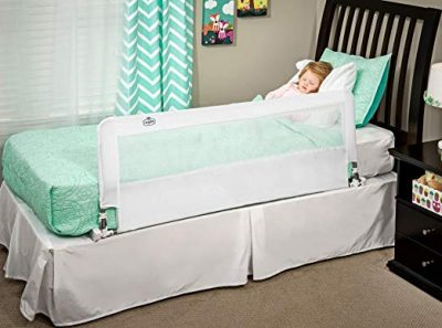 7. Regalo Hide Away Extra Long Bed Rail, White: