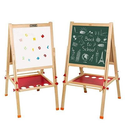 11. Arkmiido Kids Easel Double-Sided Whiteboard & Chalkboard Standing Easel: