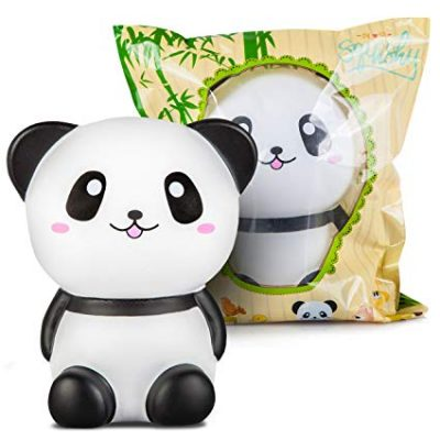 11. Oh So Squishy Jumbo Squishies Slow Rising Panda Squishy Toys with Gift Bag: