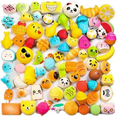 1. WATINC Random 30 pcs Squishies Cream Scented Slow Rising Kawaii Simulation Lovely Toy Medium Mini Soft Food squishies: