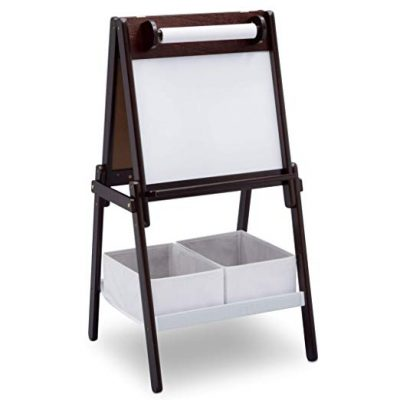 Delta Children MySize Double-Sided Storage Easel, Dark Chocolate: