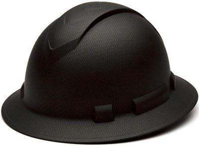 Ridgeline Full Brim 4 Pt Ratchet Suspension Hard Hat by Pyramex Safety: