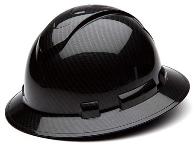 Pyramex Safety Ridgeline Graphite Pattern Full Brim Hard Hat:
