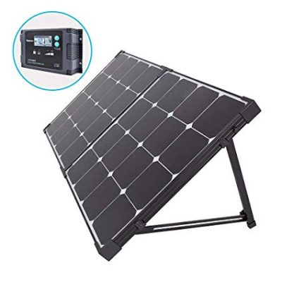 5. Renogy RNG-KIT-STCS100D-SP 100 Watt Eclipse Monocrystalline Solar Suitcase Charge Controller, 100W-Waterproof:
