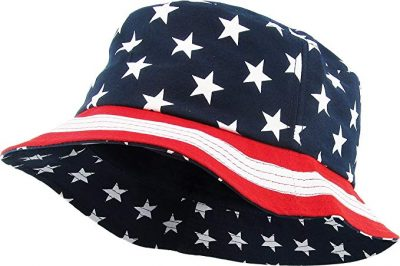 23. KBETHOS USA American Flag Print Bucket Hat Cotton Summer Boonie: