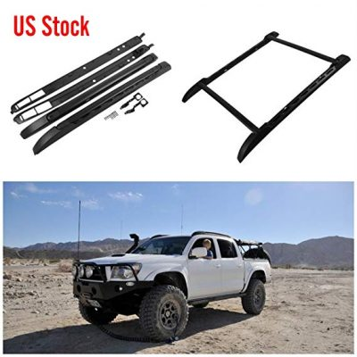 11. Seven Sparta Roof Rack Set Fits for Toyota Tacoma 2005-2017 Double Cab (Black):