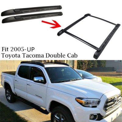 Outdoordeal Roof Rack Side Rails Bars for 2005-2015 Toyota Tacoma Double Cab Luggage Carrier OE Style: