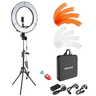 "Neewer Ring Light Kit:18""/48cm Outer 55W 5500K Dimmable LED Ring Light:"