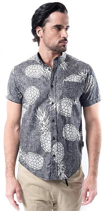 10. Brooklyn Athletics Men's Hawaiian Aloha Shirt Vintage Casual Button Down Tee: