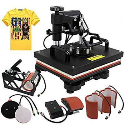 "ZENY Heat Press 12"" x 15"" Pro 6 in 1 Combo Heat Press Machine:"