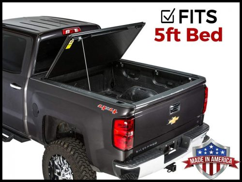 Gator Evo Hard Bi-Fold (fits) 2005-2015 Toyota Tacoma 5 FT Bed ONLY Bi Folding Tonneau Truck Bed Cover -tacoma bed covers