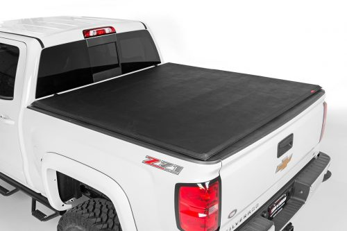 Rough Country - 44716601 - Soft Tri-Fold Tonneau Bed Cover