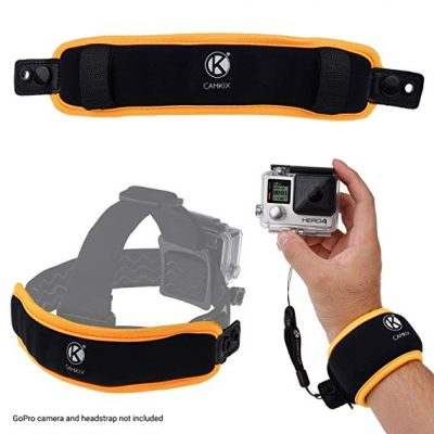 6. CamKix 2in1 Floating Wrist Strap & Headstrap Floater: