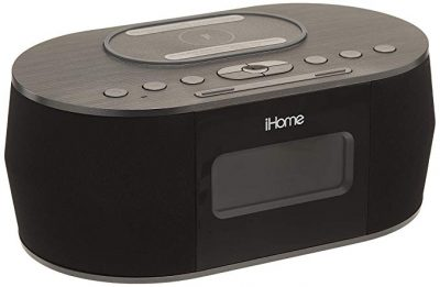 iHome iBTW38 Alarm Clock Bluetooth Stereo with Lightning iPhone Qi Wireless Charging Dock Station: