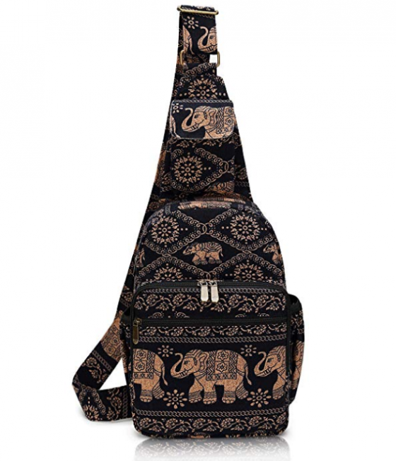 Elephant Canvas Crossbody