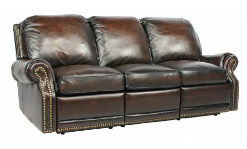 Power Recline BarcaLounger Premier II Electric Reclining Sofa - Stetson Coffee