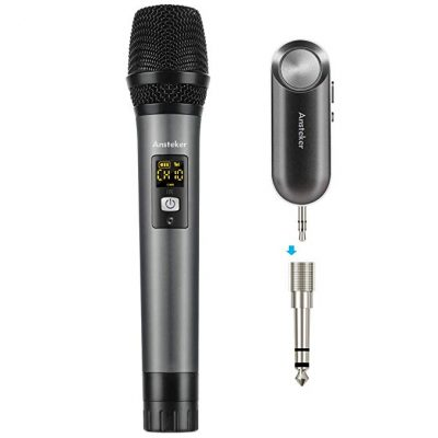 Handheld Wireless Microphone Ansteker UHF Mini Bluetooth Receive: