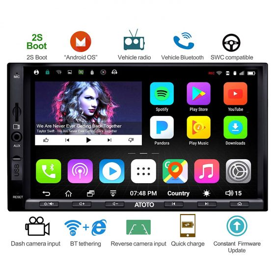 ATOTO A6 Android Car Navigation Stereo - Best android car stereos