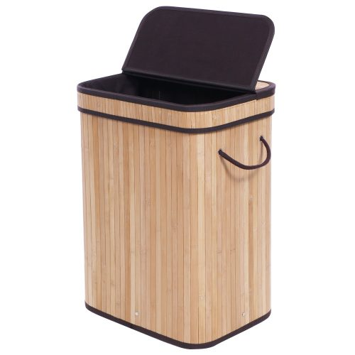 BEWISHOME Bamboo Laundry Hamper Clothes Basket