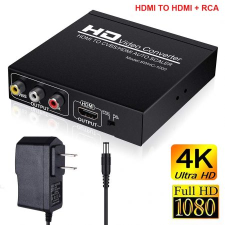 HDMI to RCA and HDMI Adapter Converter