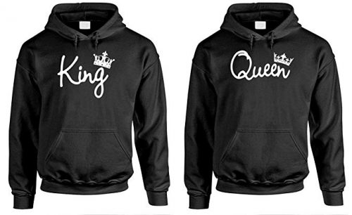 King Queen - Couples Two Hoodie Combo Pack-Couple Hoodies