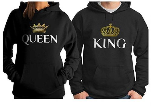 King & Queen Matching Couple Hoodie Set His & Hers Hoodies