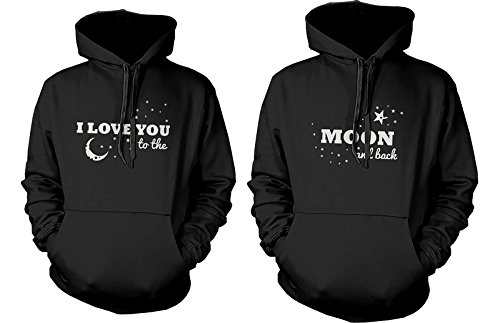 Matching Couple Hoodies - I Love You to the Moon and Back - Couple Sweatshirts