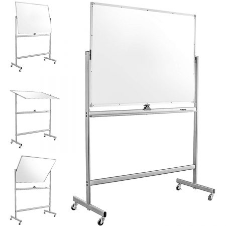 "Mobile Dry Erase Magnetic Whiteboard-47""(W) x 36""(H) - Double Sided"