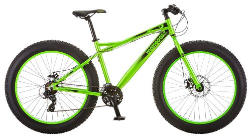 "Mongoose Juneau 26"" Fat Tire Bicycle Green, Medium Frame Size"