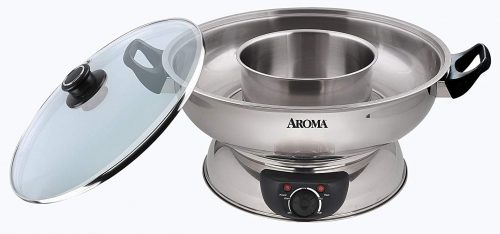 Aroma Stainless Steel Hot Pot, Silver