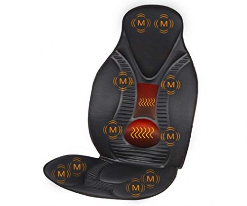 FIVE S FS8812 10 Motor Vibration Neck, Shoulder, Back, Thigh Massage Seat Cushion, Massager with Heat