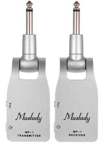 Muslady Guitar System Transmitter & Receiver 2.4G Wireless Built-in Rechargeable Lithium Battery 30M Transmission Range for Electric Guitar Bass