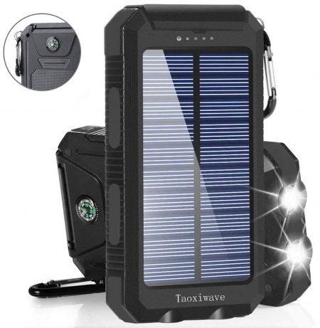 Solar Charger Solar Power Bank 20000mAh Waterproof Portable External Backup Outdoor Cell Phone Battery Charger
