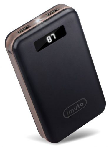 iMuto 20000mAh Portable Charger Compact Power Bank External Battery Pack