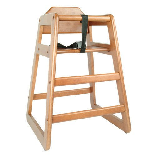 Wooden Restaurant Style Wooden High Chair for Infant Natural