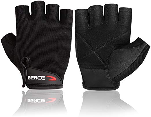 7. BEACE Weight Lifting Gym Gloves