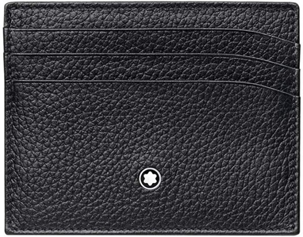 #1- Mont Blanc Men's Meisterstuck Pocket 6Cc Leather Wallet