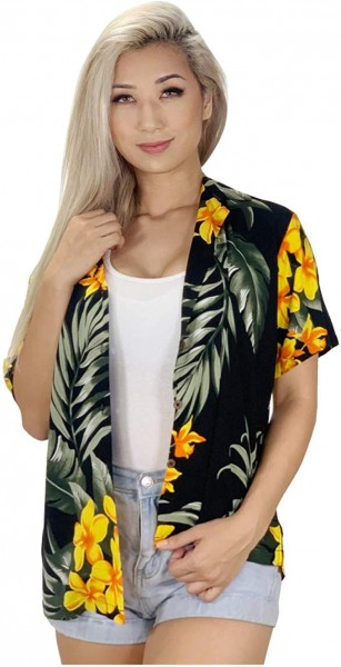 #10. Favant Tropical Summer Beach Floral Print Women's Hawaiian Aloha Shirt