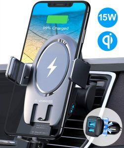phone mount wireless car charger adapter