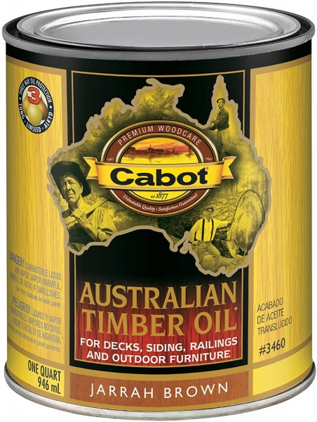 #07- Cabot Oil Stain, Quart, Jarrah Brown