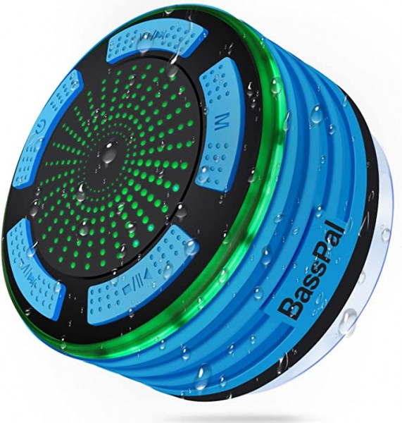 1. BassPal presents IPX7 Waterproof Portable Bluetooth Speaker