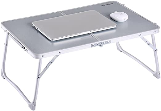 #10- SUPERJARE Foldable Laptop Table, Folds in Half w' Inner Storage Space