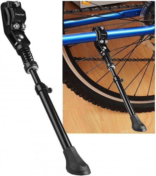 4. Rear mount stand Aluminum Bicycle Kickstand Black