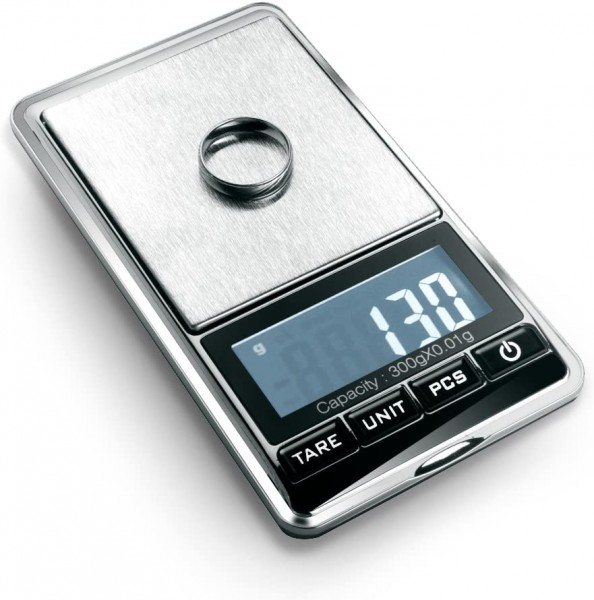 Flexzion Jewelry Scale Digital Mini Diamond Gold Coin Small Items Weight Gram Weight Pocket Tool