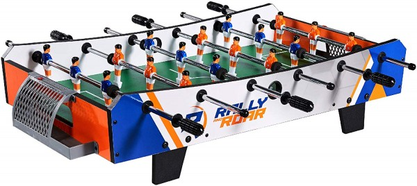 1. Foosball Tabletop Mini Size by Rally and Roar